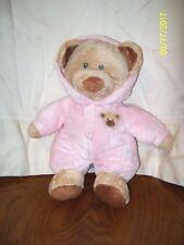 "Ty Pluffies Baby Pink Bear Pajama PJ Plush 10"""