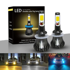 2× Yellow LED Light 880/881 899 COB Bulb Still/Flash Mode Kit For Fog Light Car