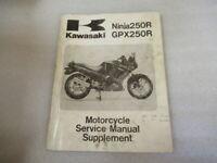 Kawasaki Ninja250R EX250 Motorcycle Service Manual Supplement P/N 99924-1109-57