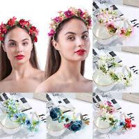 Boho Women's Flower Headband Hair Band Wedding Garland Wreath Hair Accessories