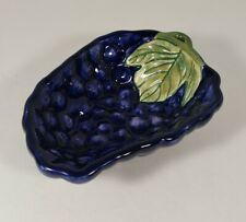 "Vintage Grape Shaped Ceramic Candy Serving Dish 4"" X 5.75"""