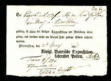 """Bavaria 1825, Früher Postschein """" Illertissen """" (#6114)"""