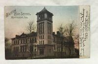 *1907 MATTOON ILLINOIS Postcard MATTOON HIGH SCHOOL
