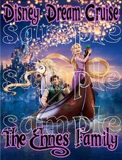 Personalized Disney Tangled Repunzel Family Cruise Stateroom Door Magnet