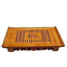 "Bamboo GongFu Tea Serving Tray L21"" x W12"" x H2.75"""