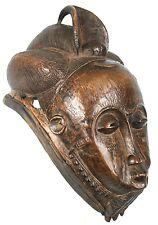 Art Africain Tribal Ethnique - Superbe Masque Heaume Baoulé - Expression Sereine
