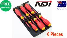 6 PCS VDE ELECTRICIANS SCREWDRIVER SET 1000V AC ND-0520 Electrical Insulated