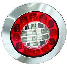 MONARK LED 12 V & 24 V RÜCKFAHR & NEBELSCHLUSS LEUCHTE CHROM - LKW TRUCK TRAILER