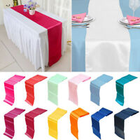 "30*275CM Satin Table Runner Wedding Party Banquet Venue Decorations 12""x108"" LJ"