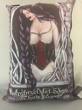 NEW LARGE CUSHION PILLOW RAPUNZEL FAIRY TALE GOTHIC LET SOWN YOUR HAIR DOWN