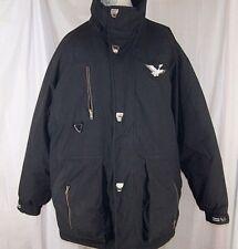 Triple FAT Goose Down Coat Vtg Ski Snow Buffer Jacket Men's Size XL Black