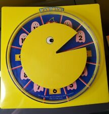 """Vintage """"Rare"""" 1980 Official Bally Midway Pacman (Paxxon)Clock With Box!"""