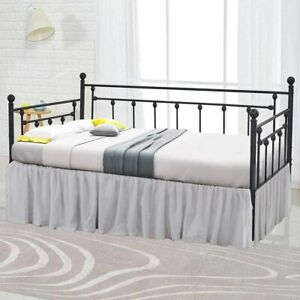 """Ruffle Bed Skirts For Day Beds With Split Corner Platform Base Twin Size 18""""Drop"""