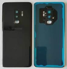 Akkudeckel für Samsung Galaxy S9 Plus G965F schwarz incl Kleber, Kamera Glas NEU