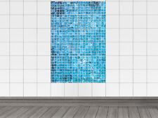 Fliesenaufkleber Fliesensticker Aufkleber für Küche Mosaikmuster blau Kacheln
