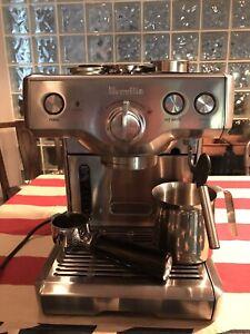 Breville 800ESXL 15-Bar Triple-Priming Die-Cast Stainless Steel Espresso Maker