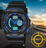 SYNOKE New Multi-Function 50M Waterproof LED Digital Double Action Wrist Watch