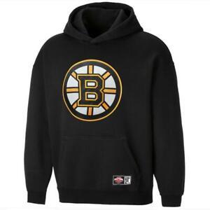 Boston Bruins NHL Applique Logo Oversized Hoodie Jumper - Black