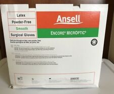 Ansell Encore Microptic Latex Powder Free Surgical Gloves 8 5787005 BOX