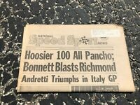 SEPT 14 1977 NATIONAL SPEED & SPORTS NEWS car racing newspaper - HOOSIER 100