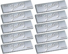 10 Pk Smoking Silver Master 1.25 Rice Cigarette Rolling Paper 500 Leaves 3114-10