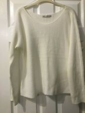 George Cream knit long sleeve jumper Size 8