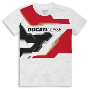 Ducati Corse Racing Spirit short-Sleeved White Red Black New 2021