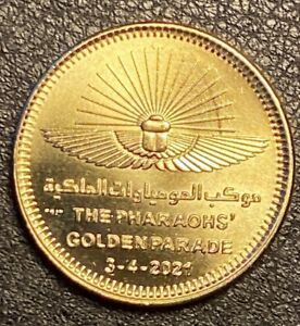 PHARAOHS GOLDEN PARADE 2021 Unc Commemorative Coin Egypt From Mint's Roll
