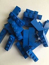 New Lego Bulk Lot Of 24 1x4 Blue Bricks Blocks Wall Basic Building Brick