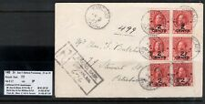 Canada #140 Very Fine Used Block & Pair On Cover To Peterborough