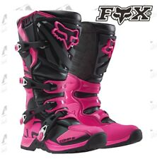 FOX RACING WOMENS COMP 5 BOOT BLACK/PINK MOTOCROSS 16450-285