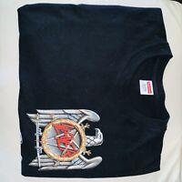 New FW 16 Supreme Slayer Eagle Tee Black Shirt Large