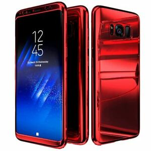 Hybrid Mirror Ultra Thin Slim Hard Red Case Cover For Samsung Galaxy S9