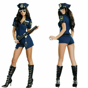 Women Ladies Sexy Police Officer Cop Uniform Fancy Dress Costume Outfit Hats UK!