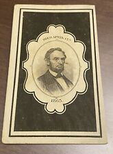 Abraham Lincoln Mourning CDV 1865