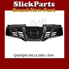 GRILLE FRONT FOR NISSAN QASHQAI 2010 2011 2012 2013 2014  WITH CHROME *NEW*