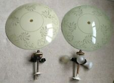 Pair of Vintage & Antique Glass Ceiling Lamp Shades and Light Fixtures