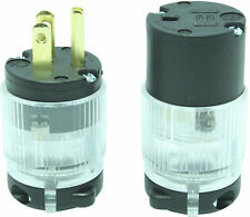 Replacement Extension Cord Plug Connector 15 Amp Lighted End Power Repair Kit