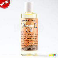 Trader Joe's Vitamin E Oil 24000 IU 4oz/118mL Moisturizer Face Hand Feet Body