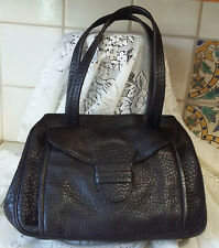 Vintage Prada Black Pebbled Leather Handbag !!BEAUTY!! With Prada Bag a57c1cc040eb5