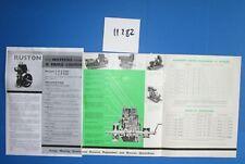 N°11282 / RUSTON dépliant petit moteur verticaux à l'huile lourde type VTH-VSH