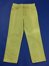 John Baner jeans donna gamba dritta W32 tg 46 verde usato stretch mom hot T4579