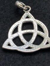 Stunning Vintage 1 1/2 In Silvertone Pendant