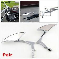 2PCS Chrome Arrow Motorcycle Bike Rearview Mirror with 8mm & 10mm Bolts Threaded