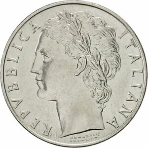 [#419425] Italy, 100 Lire, 1971, Rome, AU(55-58), Stainless Steel, KM:96.1