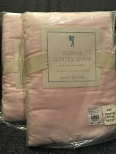 Pottery Barn Kids Sophia Quilted Sham Standard Pink Ruffled New Soft