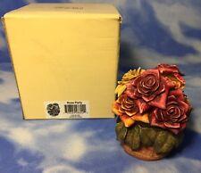 "Le Harmony Kingdom Garden ""Rose Party"" Flower Box Figurine Hglelr2 w/ Box Rguc"