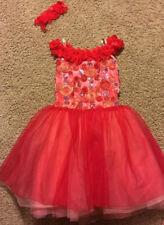 Girls' Curtain Call Red Tutu Ballerina Bodysuit Costume Size L ~ Preowned ~ Clip