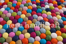 180 cm Hay Rugs pom pom felt balls multi mix color Area Rugs Home office decor
