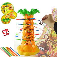 KIDS TUMBLING MONKEYS TREE PULL OUT STICKS XMAS BOARD GAME GIFT TOY CHILDREN